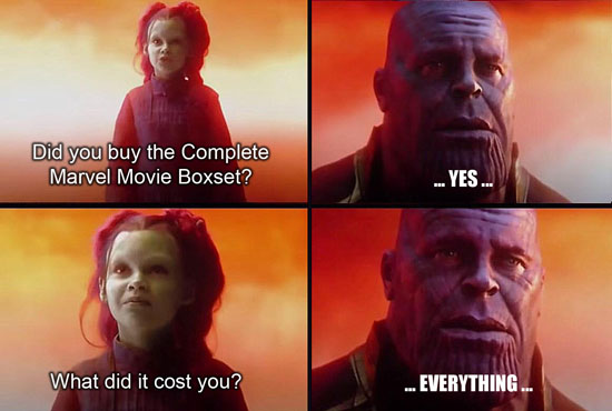 Thanos sacrificed everything for us!